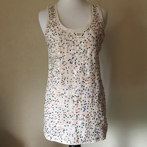 Stylus Sequin Front Tank Top